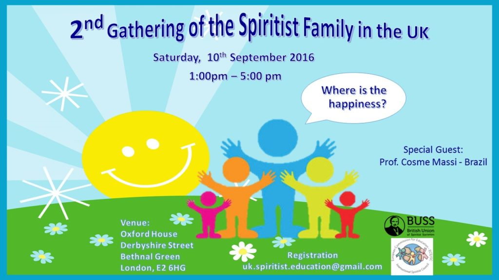 2nd Gathering of the Spiritist Family in the UK